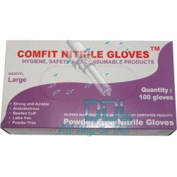 35D52 Medium Nitrile Gloves x 100