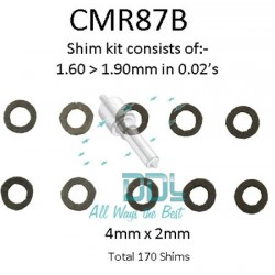 Bosch Common Rail Solenoid shim kit 1.60mm - 1.90mm