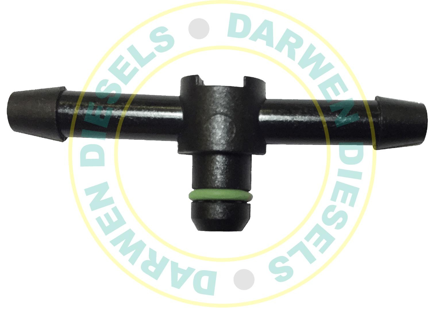 4 x DENSO DIESEL INJECTOR  COMMON RAIL LEAK OFF CONNECTOR 180 DEGREE.